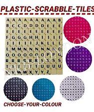 100  PLASTIC SCRABBLE TILES LETTERS FOR ART & CRAFTS SCRAPBOOK SCRABBLES UK