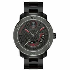 NEW Movado Men's  Bold Black Ion Plated Stainless Steel  Watch 3600384