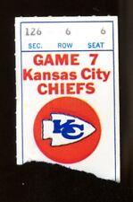 1975 Dallas Cowboys v Kansas City Chiefs Ticket 11/10 Staubach 2 TDs 243 Yds