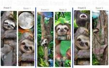 Set-3 TOED SLOTH BOOKMARK Rain Forest Jungle Wild Animal Book ART card Figurine