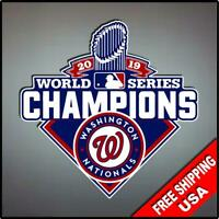 "Washington Nationals World Series 2019 Champions Vinyl Decal Sticker 4"" C"
