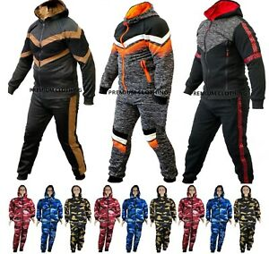Boys Girls Camo Kids fleece tracksuit Sports Jogging Bottom Hoodie Jacket zip up