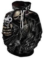 Schädel Totenkopf Skull Streetwear Kapuzen pulli Sweatshirt Hoodie Pullover