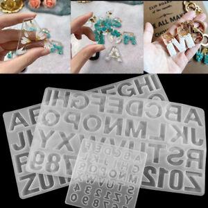Silicone English Alphabet Epoxy Resin Casting Mold DIY Jewelry Making Craft Mold