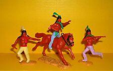 Timpo 3x Indianer G2 Reiter Krieger Waffen Zubehör Western Wildwest Toys (9)