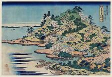 A4 Japanese Wall Art Print Sesshu Ajigawaguchi Tenposan by Katsushika Hokusai