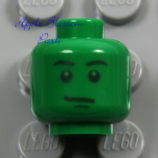 NEW Lego Toy Story GREEN MINIFIG HEAD Boy Smile Army Man Medic Soldier Head 7595