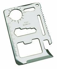 Kikkerland Classic Stainless Steel Survival Tool, Pocket 11 functions + pouch