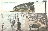 .SCARCE VIEW / EARLY 1900s SANDGATE, QLD FROM THE PIER, RETRAC SERIES POSTCARD.