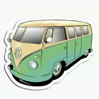 Retro Volkswagen Camper Van Sticker VW Decal Funny Vanlife Bumper Laptop Case