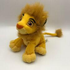 "Disney Lion King Simba with Mane 6"" Plush Hasbro Bean Bag Stuffed Animal 2002"