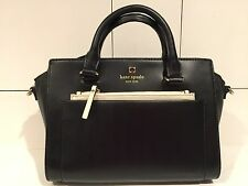 NEW $358 Kate Spade Black Mini Bernadine Hadley Street Satchel Handbag Purse