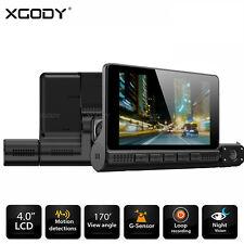 "XGODY Dashcam 4"" Touchscreen 3 Lens Autokamera KFZ DVR Videorecorder Nachtsicht"
