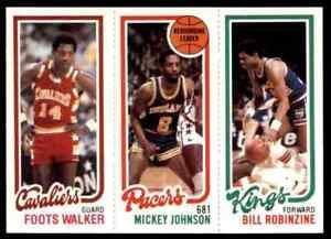 1980-81 TOPPS MINI BILL ROBINZINE 130 MICKEY JOHNSON 113 FOOTS WALKER 60