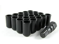 24 Pc Set Tuner Lug Nuts 12x1.5 Black Dodge Ford T-Bird Focus