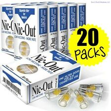 20 TOTAL NIC-OUT Cigarette Filters packs, Less Tar and Nicotine (600 Filters)
