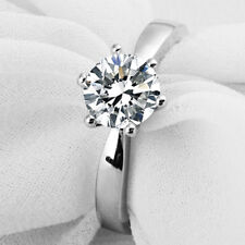 1 Ct Diamond Solitaire Engagement Ring 6 Prong 950 Platinum Never Tarnish Finish
