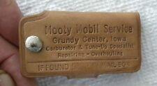 Vintage Mooty Mobil Oil Service Station, Grundy Center, Iowa IA KEYCHAIN, Unused