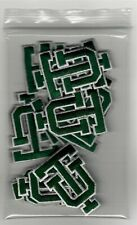 Bag of Ncaa Tulane Green Wave Iron-On Patches.Lot.Fast Shipping.Close Outs