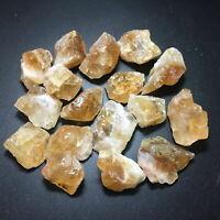 1/2 or 1 lb Lot Brazil Citrine Golden Yellow Crystal Quartz Rough Stones 1-1.5''