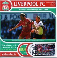 Liverpool 2007-08 Tottenham (Jamie Carragher) Football Timbre Victoire Carte #733