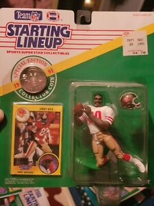 Jerry Rice 1991 Starting lineup Slu figures San Francisco 49ers w/coin NEW