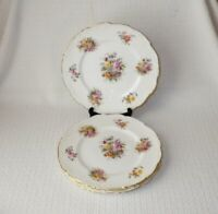 Coalport Fragrance Bone China Floral Bouquet Dinner Plates Made in England (4)