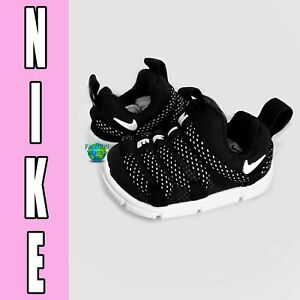 Nike Toddler Size 4C Novice (TD) Baby Shoes Black/White AQ9662 001 NIB