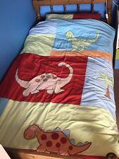 Next Childrens Colourful Dinosaur Single Duvet Bedding Set 2 (Red, Blue, Green)