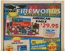 """1989 Vintage Sales Sheet: """"FREEDOM FIREWORKS"""""""