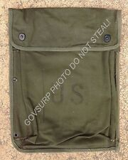 U.S. ARMY MILITARY FIELD PACK COMBAT OD. CANVAS RADIO & MANUALS BAG / POUCH