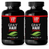 Hair oil treatment -GRAY HAIR SOLUTION-DIETARY SUPPLEMENT-Vitamin B - 120 Cap