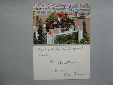 JOE  FARGIS   2 Olympic Gold Medals  Signed 3 X 5 Color Photo & 3 x 5 Index Card