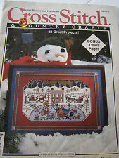 October 1992 Cross Stitch & Country Crafts Back Issue Magazine Sampler Afghan