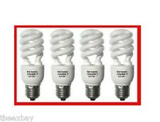 FOUR 150W CFL Fluorescent Light Bulbs 33 Watt Daylight White Bright 6400k Grow