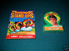 1991 Topps Stand Ups TEST ISSUE - WILL CLARK - SF Giants - Oddball