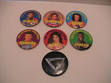 RARE LOT /7 GLADIATOR INDOOR WRESTLING GAME EXTREME SPORTS ARENA CHALLENGE PINS