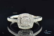 Diamond Wedding Engagement Ring 925 Silver