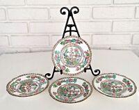 """Set 4 Coalport Indian Tree Dishes Plates 5 3/4"""" Scalloped England Fine China Vtg"""