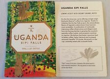 "Starbucks Reserve Coffee Taster Card "" Uganda Sipi Falls"" Brand New"