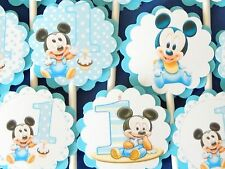30 BABY MICKEY MOUSE Cupcake Toppers Birthday Party Favors, Decorations  30