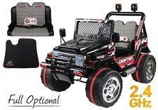 Auto Macchina Elettrica Jeep 12 V 2 Posti Per Bambini Nera