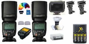 Yongnuo YN600EX-RT II Wireless Flash Speedlite PRO KIT 2PCS + YN-E3-RT ii triger