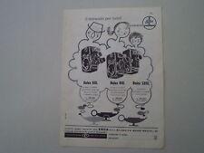 advertising Pubblicità 1960 BOLEX PAILLARD CINEPRESE D8L/B8L/C8SL
