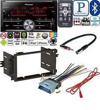 Pioneer Double Din Media Player Radio Bluetooth Dash Install Kit Harness NO CD