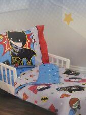 4 pc Justice League Toddler Bed Set NIP
