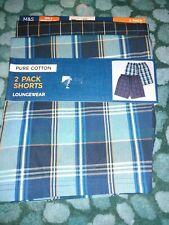 """New M&S 2 PACK Pyjamas Shorts XXXL  45-47"""" Waist"""