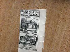 m7-1 ephemera 1900 advert boulton & paul ltd norwich conservatories