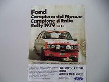 advertising Pubblicità 1980 FORD ESCORT RALLY GR1 e MAX SGHEDONI/ANGELO PRESOTTO