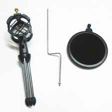 Microphone Mic Shock Mount Pop Filter Desktop Tripod Stand Holder Universal Kit